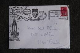 Enveloppe Timbrée De LORIENT à TOULON - Marcophilie (Lettres)