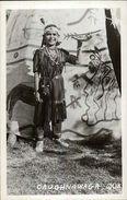 Caughnawaga Quebec Native American Indian Boy & Tepee Real Photo Postcard - Indiaans (Noord-Amerikaans)