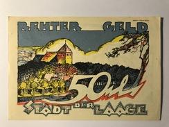 Allemagne Notgeld Laage 50 Pfennig - [ 3] 1918-1933 : Weimar Republic