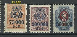 GEORGIEN Georgia 1923 Michel 58 - 60 * - Géorgie