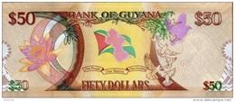 Guyana P.new 50 Dollars 2016  Unc - Guyana
