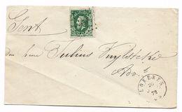 N° 30 Puntstempel 222  LOKEREN 1872  Naar Gent - 1869-1883 Léopold II