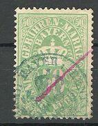 Germany Bayern Ca 1900 Tax Revenue Gebührenmarke O - Bavière