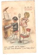 Germaine Bouret Une Vedette De La Radio Je Vais Vous Chanter J´ai Trop Vécu Carte Postale Piano Artist Signed Postcard - Bouret, Germaine