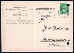 A6457 - Alte Postkarte Bedarfspost - Berlin - Lewisohn & Co Rosshaarverarbeitung 1927 - Germania