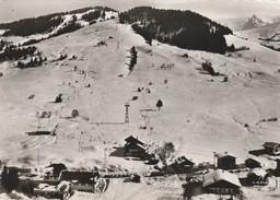CP  74  MEGEVE   39  Dèpart Du Tèlèpherique  Du Mt  D'arbois,  Monte Pente Mont D'arbois Et Le Vorasset - Megève