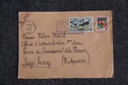 Enveloppe Timbrée Envoyée De TOULON à DIEGO SUAREZ ( YT : 60/1273 ) - Marcophilie (Lettres)