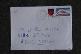 Enveloppe Timbrée Envoyée De ST LAURENT LE MINIER à TOULON ( YT : 1805 ) - Marcophilie (Lettres)