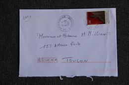 Enveloppe Timbrée Envoyée De MONTAGRIER  à TOULON ( YT : 2890 ) - Marcophilie (Lettres)