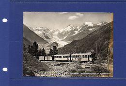 ##(003)POSTCARDS - Switzerland  - 1952 - Bernina  Railways,  Postcard Sent To Italy - Eisenbahnen