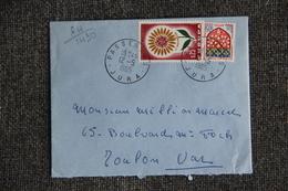 Enveloppe Timbrée Envoyée De PASSENANS à TOULON ( YT :64 /1430) - Marcophilie (Lettres)