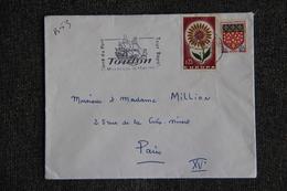 Enveloppe Timbrée Envoyée De TOULON à PARIS( YT :B53) - Marcophilie (Lettres)
