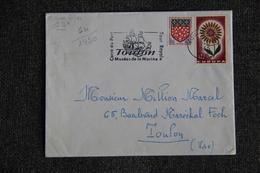 Enveloppe Timbrée Envoyée De TOULON à  TOULON( YT :64 /1430) - Marcophilie (Lettres)