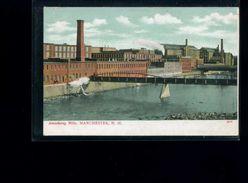 CPA    Manchester  Amoskeag  Mills  : Carte écrite - Manchester
