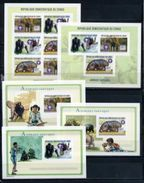 Congo, Animals, Scouts 2002, 2 Sheetlets +3 Blocks S/s Imperforated - Briefmarken