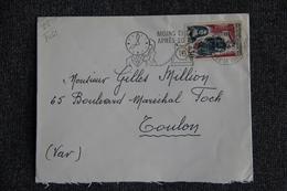 Enveloppe Timbrée Envoyée De PARIS à  TOULON( YT : 1461) - Marcophilie (Lettres)