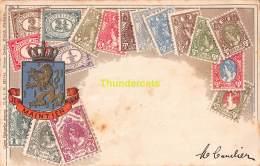 CPA  NEDERLAND PAYS BAS TIMBRES POSTZEGELS JE MAINTIEN DRAI OTTMAR ZIEHER STAMPS - Timbres (représentations)