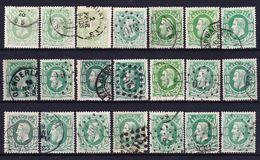 België 1869 Nr 30 Varia Nuance En Stempels,zeer Mooi Lot Krt 3477, KOOPJE ,   Zie Ook Andere Mooie Loten - 1869-1883 Léopold II