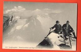 NEB-20  Jungfraugipfel  Nebeldurchblick Auf Eiger Und Mönch. Bergleute, Alpinistes. Nicht Gelaufen - BE Bern