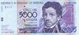 VENEZUELA 5000 BOLIVARES 2002 P-84b UNC  [VE084b] - Venezuela