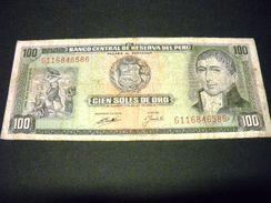 PEROU 100 Soles De Oro 16/05/1974, Pick N° 102 C, PERU - Peru