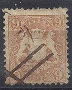 Bayern 1873 9kr (o) Mi.28 Y - Bavaria