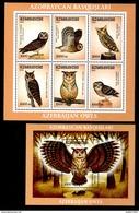 Azerbaijan 2001 Aserbaidschan Mi Block 48(504-509) + Block 49(510) Owls / Eulen **/MNH - Uilen