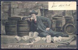1910 AUSTRIA , CERVEZA , BREWERIANA , TARJETA POSTAL CIRCULADA - Postales