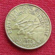 Cameroon 5 Francs 1972 KM# 1a Cameroun Camarões Equatorial African States Afrique Afrika - Cameroon