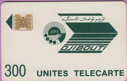 Télécarte Djibouti °° 300 Unités Vert Très Foncé-Sc5Ob-GE8717 - Djibouti