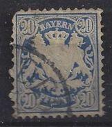 Bayern 1876 20pf (o) Mi.40c - Bavaria