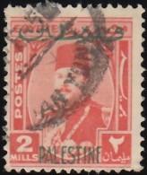 EGYPT - Scott #N2 King Farouk 'Overprinted' / Used Stamp - Egypt