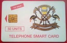 Uganda Phonecard 50 Units Chip Card First Issue - Uganda