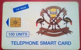 Uganda Phonecard 100 Units Chip Card First Issue - Uganda