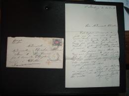 LETTRE TP 7 OBL.2 I HO H 1881 + ST PETERSBOURG GRANDE MAISON DE BLANC A. LAFONT + OBL. Perlée Bleue 17 JUIN 81 ETRANGER - 1857-1916 Empire