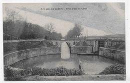 LE GUETIN - N° 406 - PRISE D' EAU DU CANAL AVEC PERSONNAGE - CPA NON VOYAGEE - France