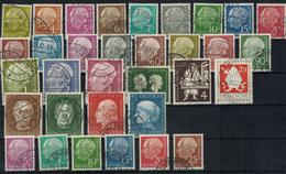 Bundesrepublik 177-203 Jahrgang 1954 Komplett Gestempelt Inkl. Heuss Lumogen - BRD