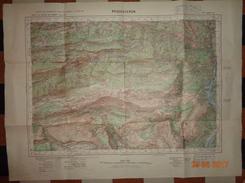 Carte Au 50.000e Topograprique  ROQUESTERON PUGET THENIERS CARTOGRAPHIQUE  Dessin, Héliogravé  LAMBERT III - Carte Topografiche