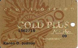Eldorado Casino - Reno, NV - Gold Plus Member Slot Card With No Signature Strip - 18th Issue - Casino Cards