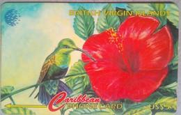 BVI Phonecard US$5 Hummingbird 25CBVA  English Rev - Virgin Islands