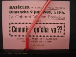 PAD. 220.  Carte D'entrée à La Soirée Du Cabaret Wallon Au Pré-a-Parchon à Basècles - Tickets - Entradas