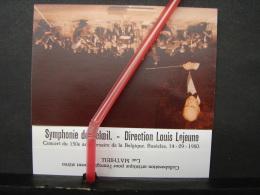 PAD. 222. Carte Pour La Symphonie De Beloeil. Direction Louis Lejeune Basècles Avec Photo - Documentos Históricos