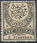 Stamp Turkey   2pi Mint Lot#83 - 1858-1921 Empire Ottoman