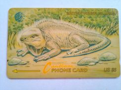 BVI Phonecard US$5 Lizard 20CBVA  English Rev - Virgin Islands