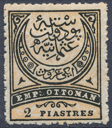 Stamp Turkey   2pi Mint Lot#89 - 1858-1921 Ottoman Empire