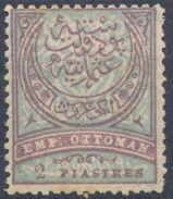 Stamp Turkey   2pi Mint Lot#102 - 1858-1921 Empire Ottoman