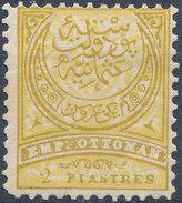 Stamp Turkey   2pi Mint Lot#116 - 1858-1921 Ottoman Empire