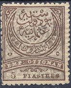 Stamp Turkey   5pi Mint Lot#129 - 1858-1921 Ottoman Empire