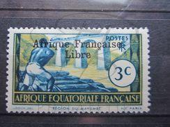 VEND BEAU TIMBRE D ' A.E.F. N° 158 , X !!! - A.E.F. (1936-1958)