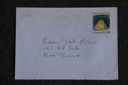 Enveloppe Timbrée Envoyée De VANVES à Destination De TOULON ( YT : 2493 ) - Marcophilie (Lettres)